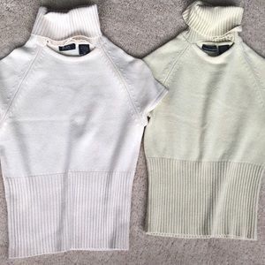 Two women's XS silk/cashmere short sleeve sweaters